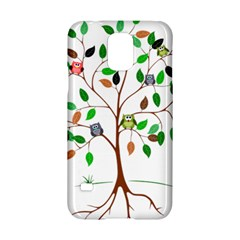 Tree Root Leaves Owls Green Brown Samsung Galaxy S5 Hardshell Case  by Simbadda