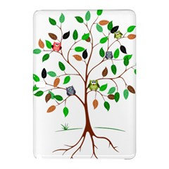 Tree Root Leaves Owls Green Brown Samsung Galaxy Tab Pro 10 1 Hardshell Case by Simbadda