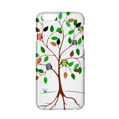 Tree Root Leaves Owls Green Brown Apple Iphone 6/6s Hardshell Case by Simbadda