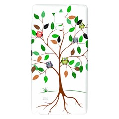 Tree Root Leaves Owls Green Brown Galaxy Note 4 Back Case by Simbadda