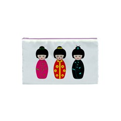 Japanese Dolls Cosmetic Bag (xs) by pixiedust
