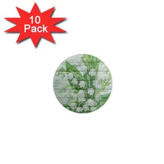 On Wood May Lily Of The Valley 1  Mini Magnet (10 Pack)  by Simbadda