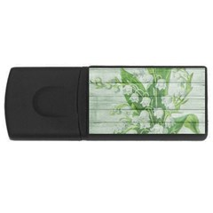 On Wood May Lily Of The Valley Usb Flash Drive Rectangular (4 Gb) by Simbadda
