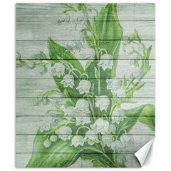 On Wood May Lily Of The Valley Canvas 20  X 24   by Simbadda