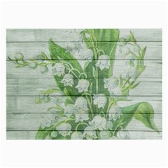 On Wood May Lily Of The Valley Large Glasses Cloth (2 Side) by Simbadda