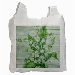 On Wood May Lily Of The Valley Recycle Bag (two Side)  by Simbadda