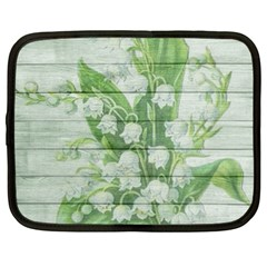 On Wood May Lily Of The Valley Netbook Case (xl)