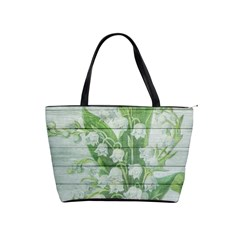 On Wood May Lily Of The Valley Shoulder Handbags by Simbadda