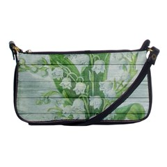 On Wood May Lily Of The Valley Shoulder Clutch Bags by Simbadda