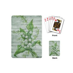 On Wood May Lily Of The Valley Playing Cards (mini)