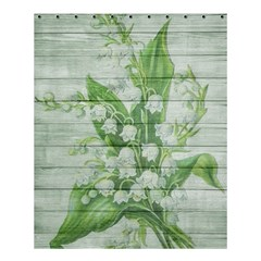 On Wood May Lily Of The Valley Shower Curtain 60  X 72  (medium)  by Simbadda