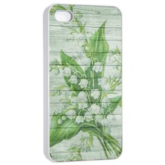 On Wood May Lily Of The Valley Apple Iphone 4/4s Seamless Case (white) by Simbadda