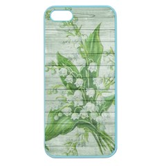 On Wood May Lily Of The Valley Apple Seamless Iphone 5 Case (color) by Simbadda