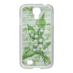 On Wood May Lily Of The Valley Samsung Galaxy S4 I9500/ I9505 Case (white) by Simbadda