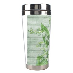 On Wood May Lily Of The Valley Stainless Steel Travel Tumblers by Simbadda