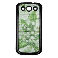 On Wood May Lily Of The Valley Samsung Galaxy S3 Back Case (black) by Simbadda