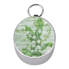 On Wood May Lily Of The Valley Mini Silver Compasses by Simbadda