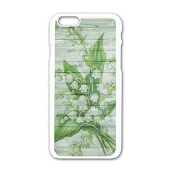 On Wood May Lily Of The Valley Apple Iphone 6/6s White Enamel Case