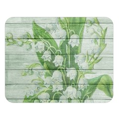 On Wood May Lily Of The Valley Double Sided Flano Blanket (large)  by Simbadda