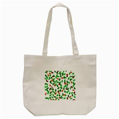 Leaves True Leaves Autumn Green Tote Bag (cream) by Simbadda