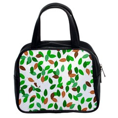 Leaves True Leaves Autumn Green Classic Handbags (2 Sides)