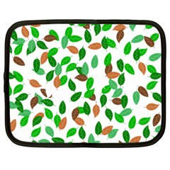 Leaves True Leaves Autumn Green Netbook Case (xl)