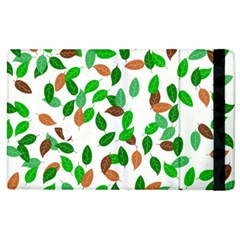 Leaves True Leaves Autumn Green Apple Ipad 3/4 Flip Case by Simbadda
