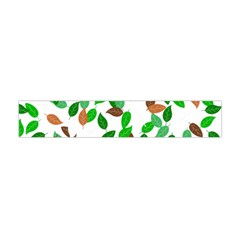 Leaves True Leaves Autumn Green Flano Scarf (mini) by Simbadda