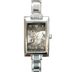 Astronaut Space Travel Space Rectangle Italian Charm Watch by Simbadda