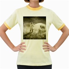 Astronaut Space Travel Space Women s Fitted Ringer T Shirts by Simbadda
