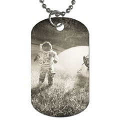Astronaut Space Travel Space Dog Tag (one Side) by Simbadda