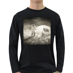 Astronaut Space Travel Space Long Sleeve Dark T-shirts by Simbadda