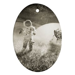 Astronaut Space Travel Space Oval Ornament (two Sides) by Simbadda