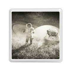 Astronaut Space Travel Space Memory Card Reader (square)