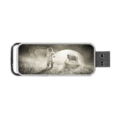 Astronaut Space Travel Space Portable Usb Flash (one Side) by Simbadda