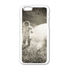 Astronaut Space Travel Space Apple Iphone 6/6s White Enamel Case