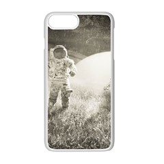 Astronaut Space Travel Space Apple Iphone 7 Plus White Seamless Case