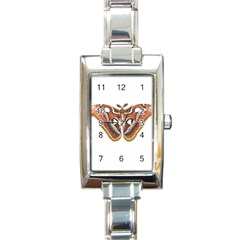 Butterfly Animal Insect Isolated Rectangle Italian Charm Watch by Simbadda