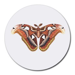 Butterfly Animal Insect Isolated Round Mousepads by Simbadda