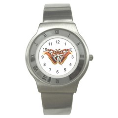 Butterfly Animal Insect Isolated Stainless Steel Watch by Simbadda
