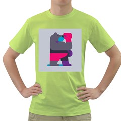 Strong Bear Animals Boxing Red Purple Grey Green T Shirt