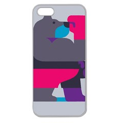 Strong Bear Animals Boxing Red Purple Grey Apple Seamless Iphone 5 Case (clear) by Alisyart