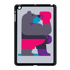 Strong Bear Animals Boxing Red Purple Grey Apple Ipad Mini Case (black) by Alisyart