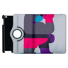 Strong Bear Animals Boxing Red Purple Grey Apple Ipad 2 Flip 360 Case by Alisyart