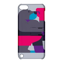 Strong Bear Animals Boxing Red Purple Grey Apple Ipod Touch 5 Hardshell Case With Stand by Alisyart