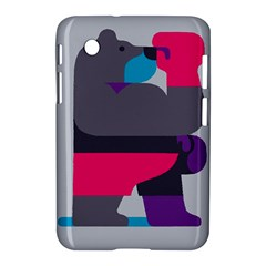 Strong Bear Animals Boxing Red Purple Grey Samsung Galaxy Tab 2 (7 ) P3100 Hardshell Case  by Alisyart