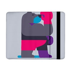 Strong Bear Animals Boxing Red Purple Grey Samsung Galaxy Tab Pro 8 4  Flip Case by Alisyart