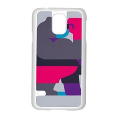 Strong Bear Animals Boxing Red Purple Grey Samsung Galaxy S5 Case (white)