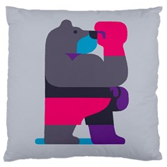 Strong Bear Animals Boxing Red Purple Grey Standard Flano Cushion Case (one Side) by Alisyart
