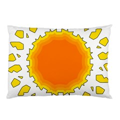 Sun Hot Orange Yrllow Light Pillow Case (two Sides) by Alisyart